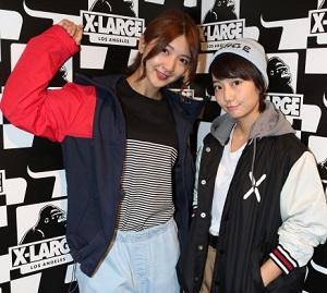 X-LARGE×新井愛瞳&森咲樹 オーバーサイズファッションに挑戦!
