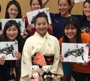 「勝負」の世界で頑張る方たちへのお茶会。競泳日本代…